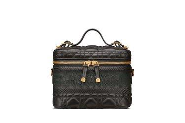 حقيبة Travel Vanity Case بالقماش الجلدي